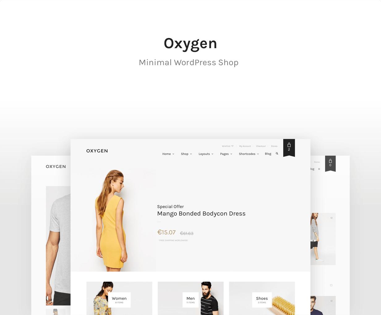 oxygen 1 - Oxygen - WooCommerce WordPress Theme