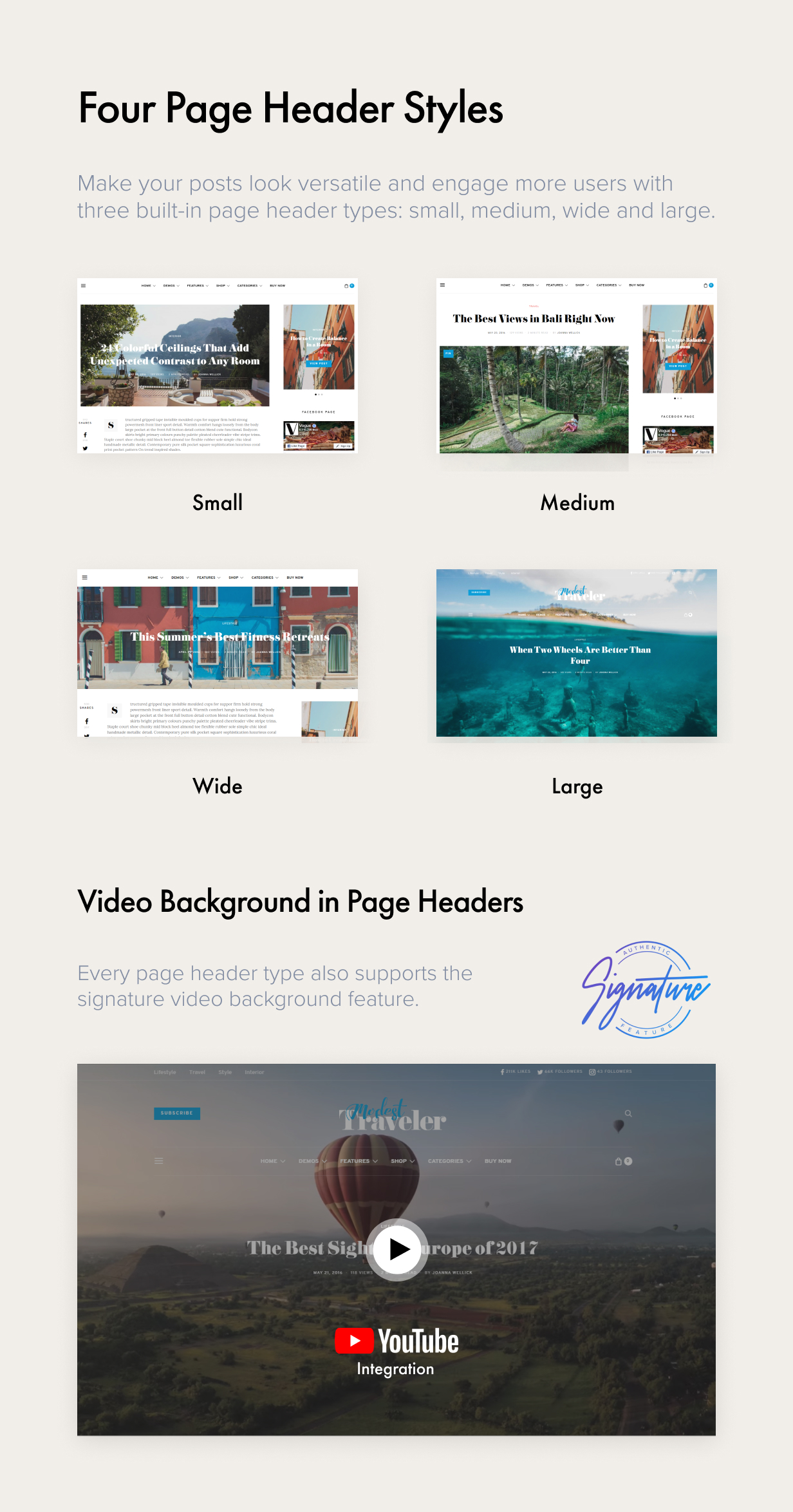 page header styles - Authentic - Lifestyle Blog & Magazine WordPress Theme