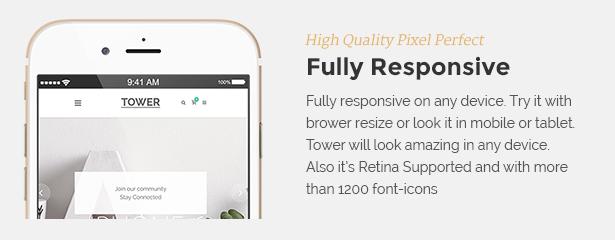 responsive - Tower | Business WordPress