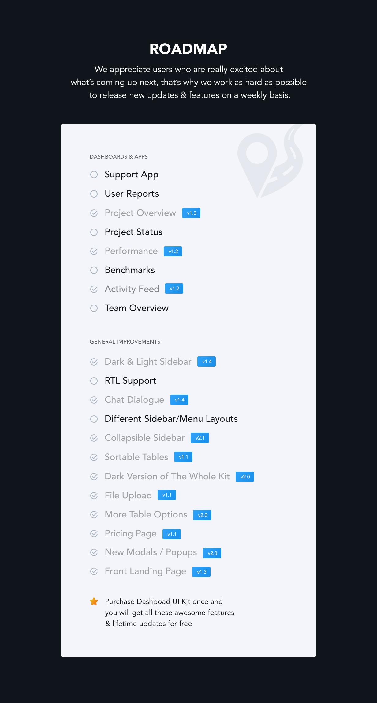 roadmap2 - Dashboard UI Kit | Admin Dashboard Template & Web Application Framework