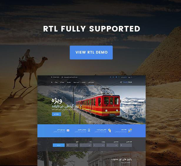 rtl screen - Travel Tour Booking WordPress