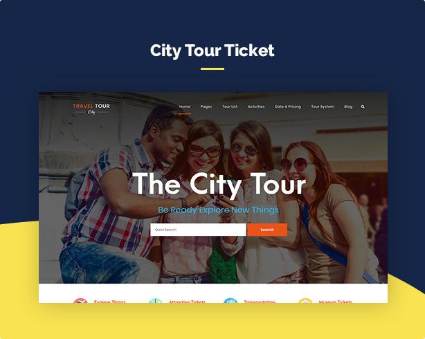 screen demo city - Travel Tour Booking WordPress