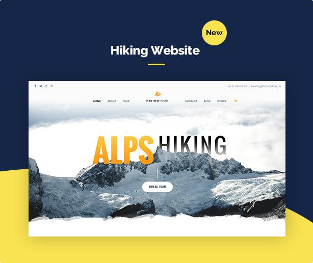 screen demo hiking - Travel Tour Booking WordPress
