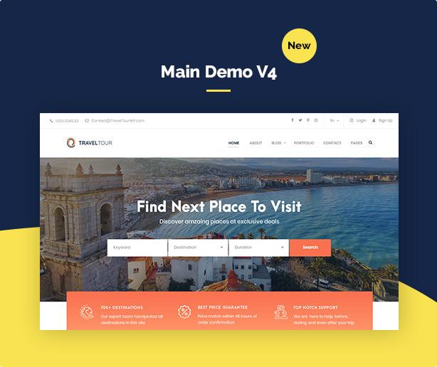 screen demo v4 - Travel Tour Booking WordPress