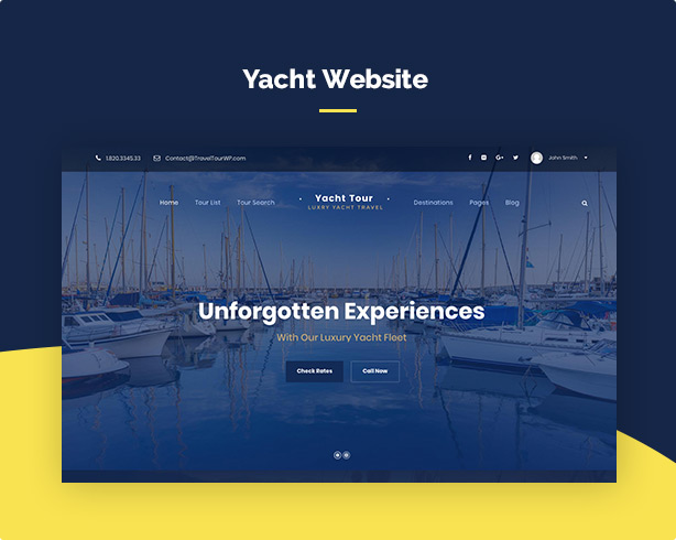 screen demo yacht - Travel Tour Booking WordPress