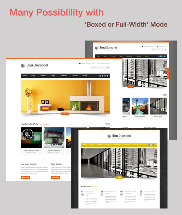 screen full boxed - Blue Diamond - Responsive Corporate WP Theme