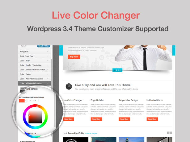 screen live color - Blue Diamond - Responsive Corporate WP Theme