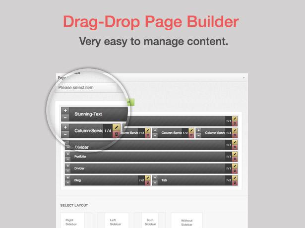 screen page builder - Blue Diamond - Responsive Corporate WP Theme