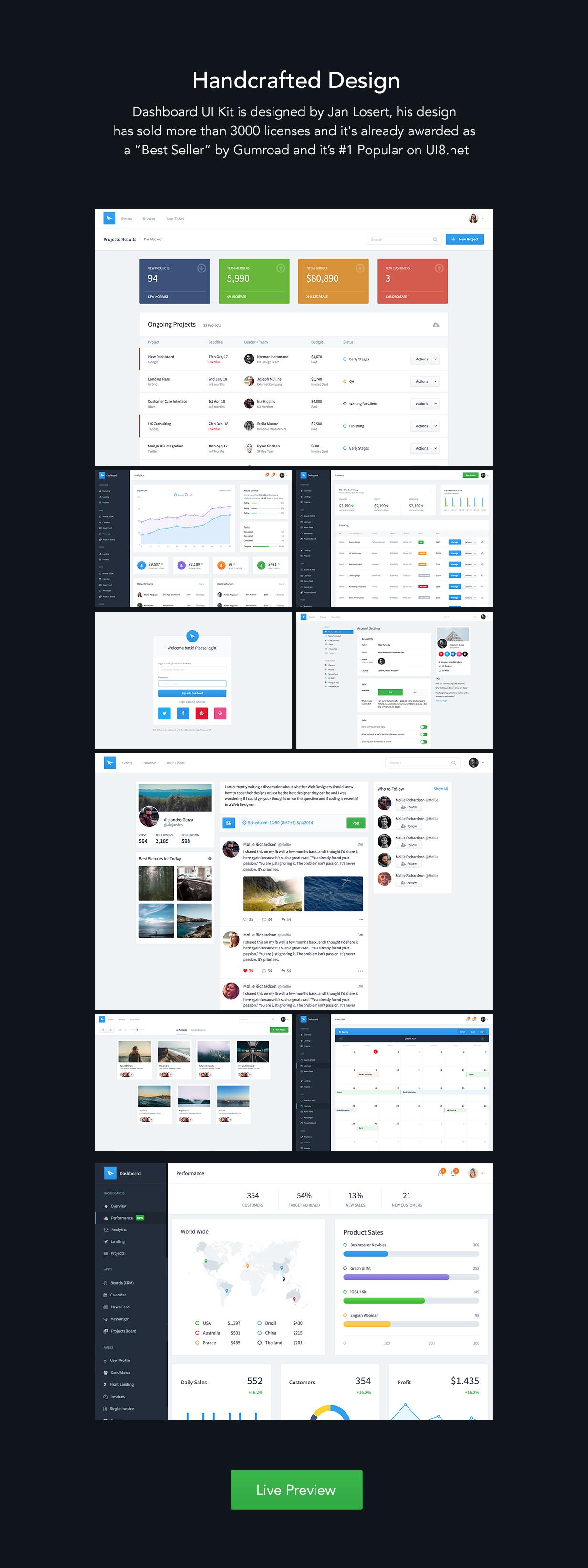 section2 - Dashboard UI Kit | Admin Dashboard Template & Web Application Framework