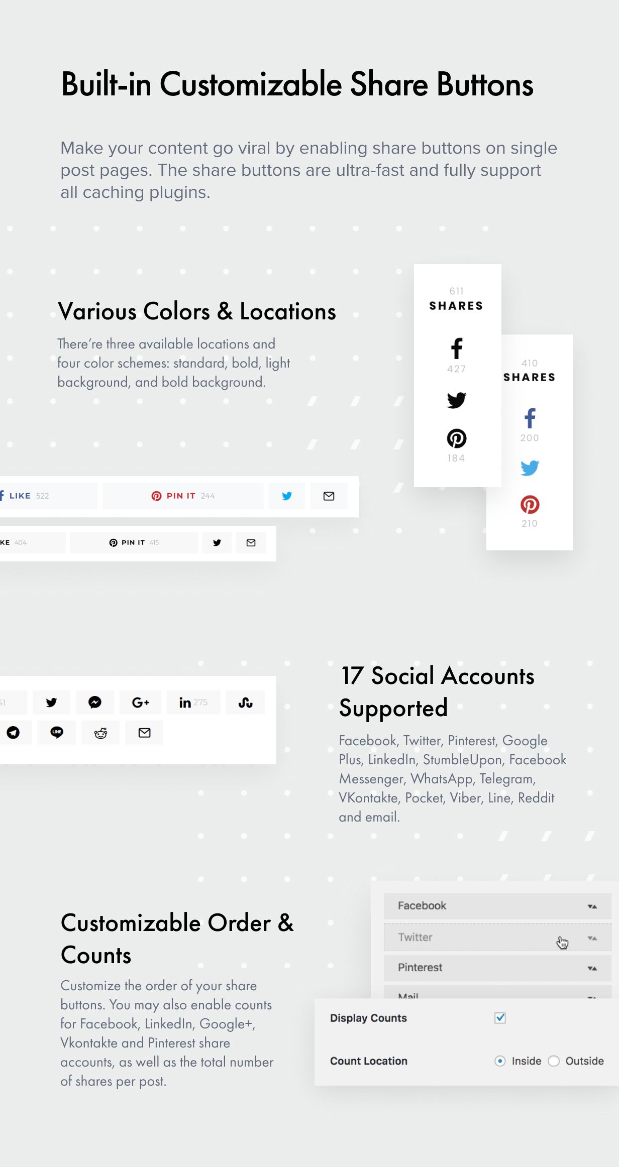 share buttons - Authentic - Lifestyle Blog & Magazine WordPress Theme