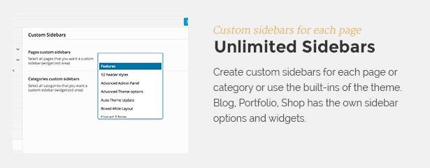 sidebars - Tower | Business WordPress