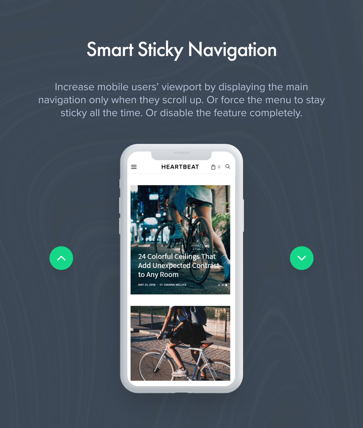 smart sticky navigation - Authentic - Lifestyle Blog & Magazine WordPress Theme