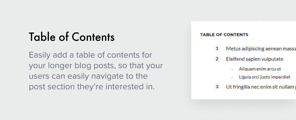table of contents - Authentic - Lifestyle Blog & Magazine WordPress Theme