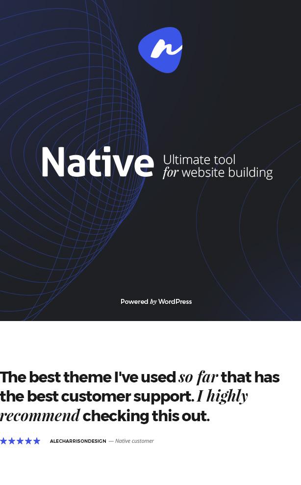 top - Native - Stylish Multi-Purpose Creative WP Theme