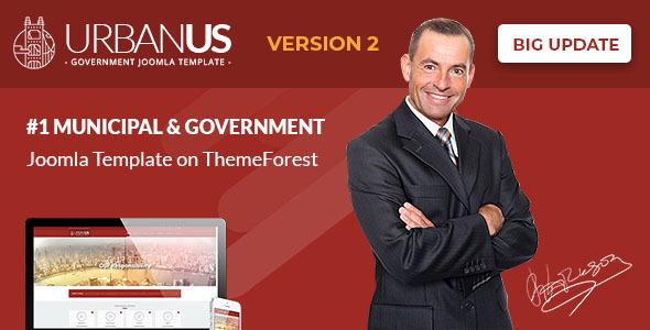 urbanus2 preview.  large preview - Urbanus - Responsive Government Joomla Template