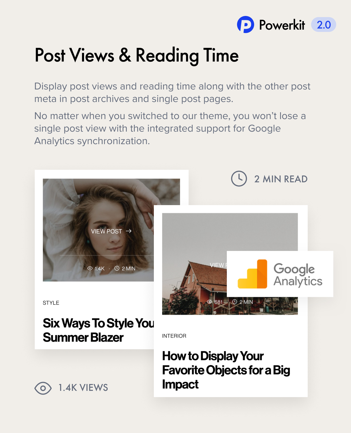 views reading time - Authentic - Lifestyle Blog & Magazine WordPress Theme