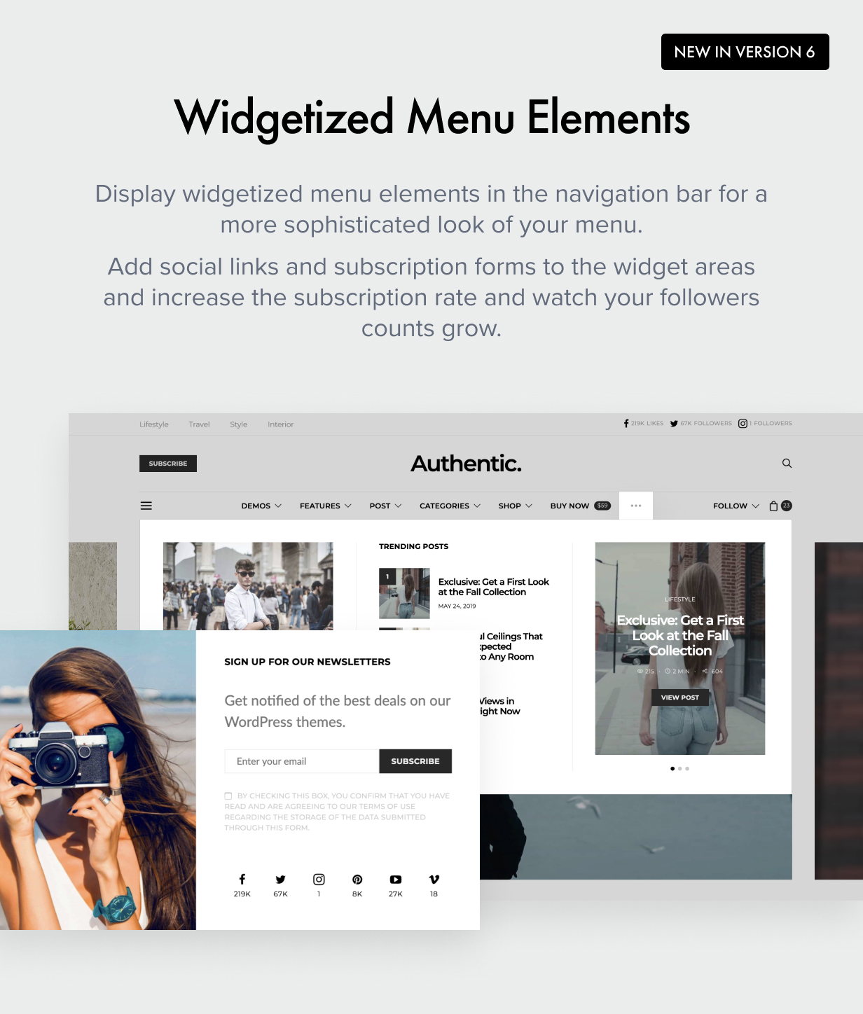 widgetized menu - Authentic - Lifestyle Blog & Magazine WordPress Theme