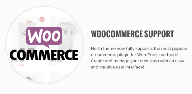 woocommerce support - North - One Page Parallax WordPress Theme