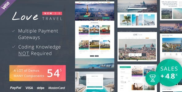 01 theme preview.  large preview - Love Travel