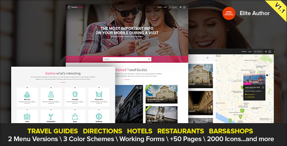 01 travelguide travel site template - CityTours - Travel and Hotels Site Template