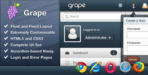 01.  large preview - Grape – Professional & Flexible Admin Template