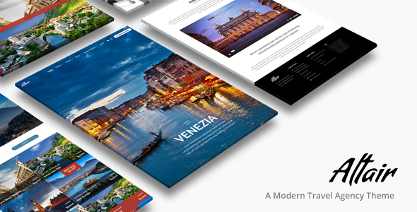 01 Cover.  large preview - Altair | Travel Agency WordPress