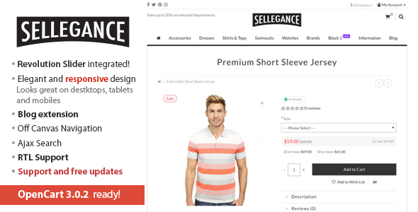 01 Sellegance.  large preview - Sellegance - Responsive and Clean OpenCart Theme