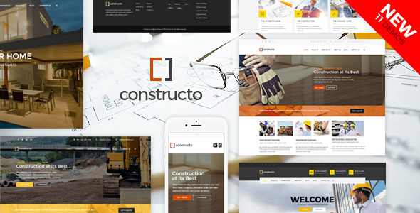 01 constructo.  large preview - Constructo - Construction WordPress Theme