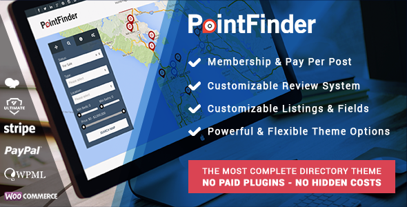 01 itempreview.  large preview - PointFinder | Directory & Listing WordPress Theme