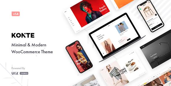 01 konte preview.  large preview - Konte - Minimal & Modern WooCommerce WordPress Theme