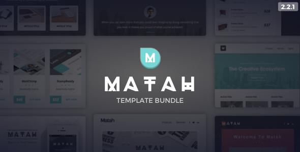01 preview image.  large preview - Matah | Responsive Email Set