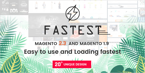 01 preview.  large preview - Fastest - Multipurpose Responsive Magento 2 and 1 Fashion Theme