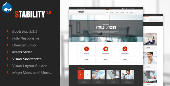 01 preview.  large preview - Stability - Responsive Drupal 7 Ubercart Theme