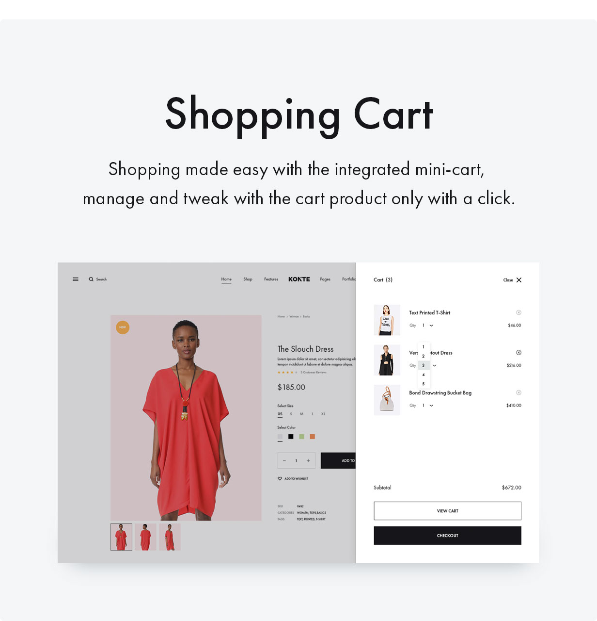 14 ShoppingCart - Konte - Minimal & Modern WooCommerce WordPress Theme