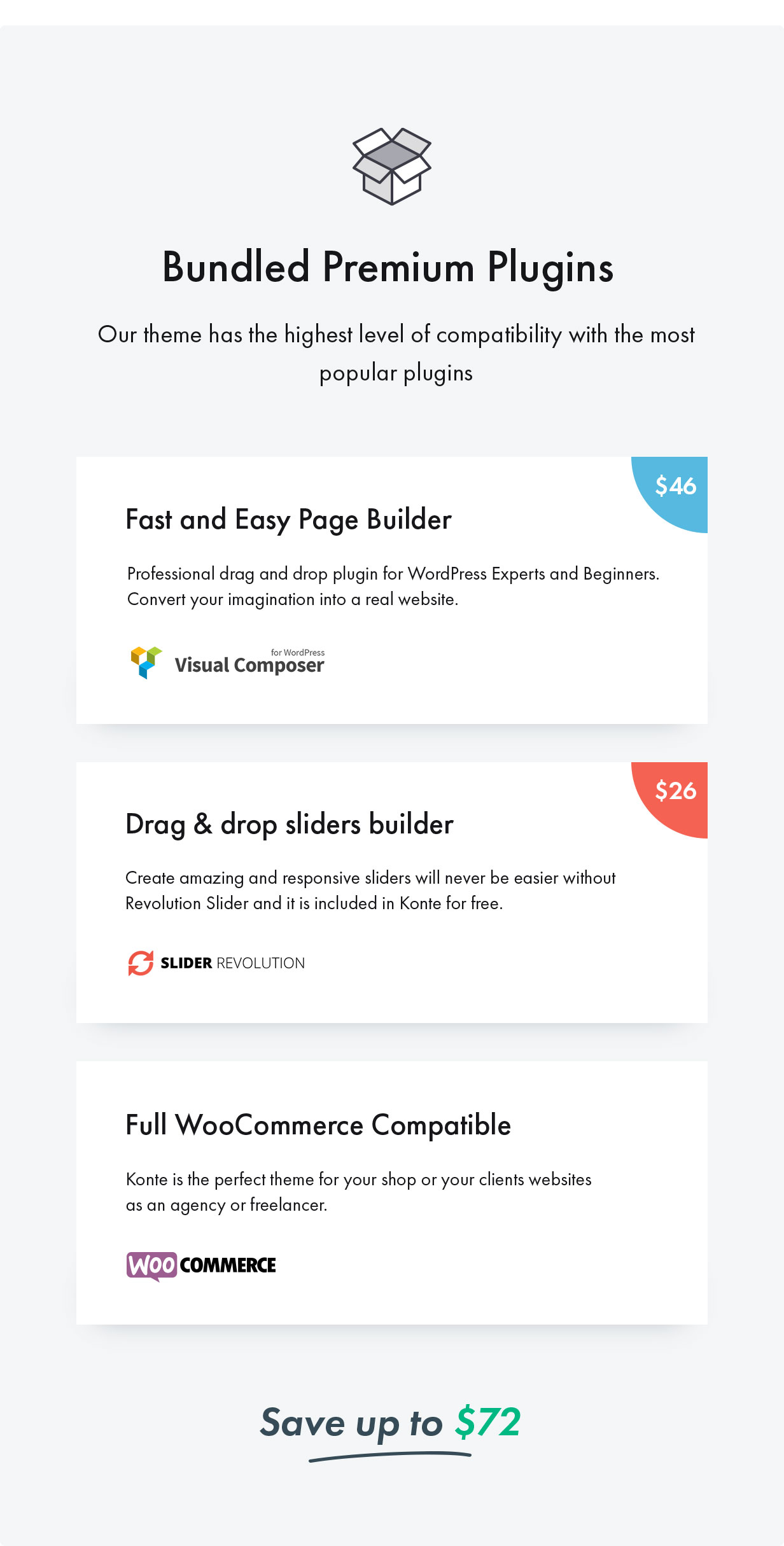 15 Plugins - Konte - Minimal & Modern WooCommerce WordPress Theme