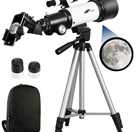 1611680365 41rTCiPGnwL. AC  459x445 - Telescopes for Adults, 70mm Aperture 400mm AZ Mount, Telescope for Kids Beginners, Fully Multi-Coated Optics, Astronomy Refractor Telescope Portable Telescope with Tripod, Phone Adapter, Backpack