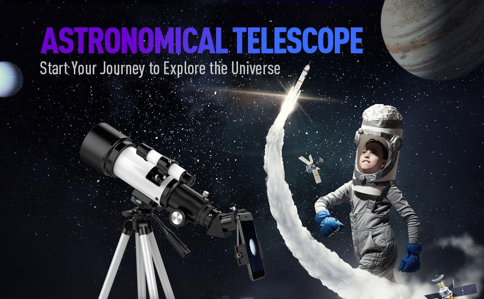 1c65fcb8 73d5 4f43 8dab 15d3e5910d73.  CR0,0,970,600 PT0 SX970 V1    - Telescopes for Adults, 70mm Aperture 400mm AZ Mount, Telescope for Kids Beginners, Fully Multi-Coated Optics, Astronomy Refractor Telescope Portable Telescope with Tripod, Phone Adapter, Backpack