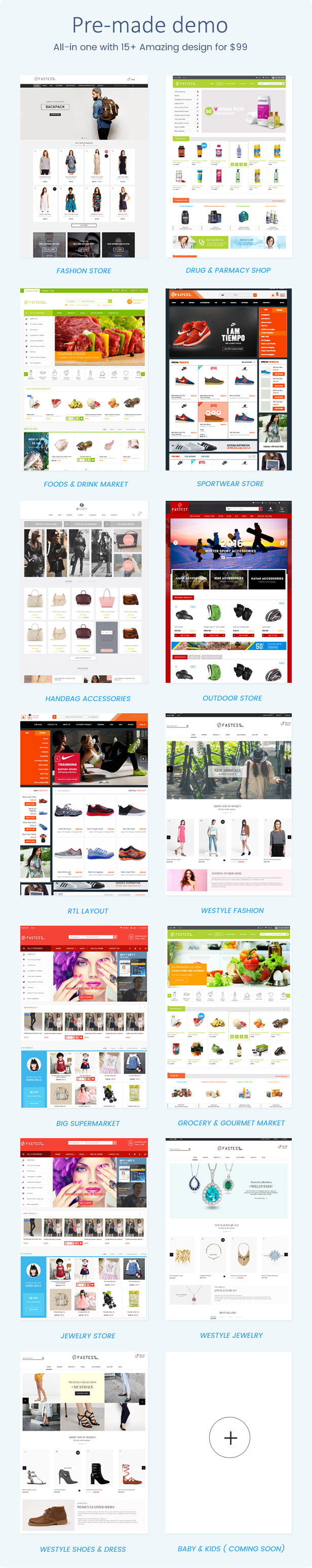 3 - Fastest - Multipurpose Responsive Magento 2 and 1 Fashion Theme