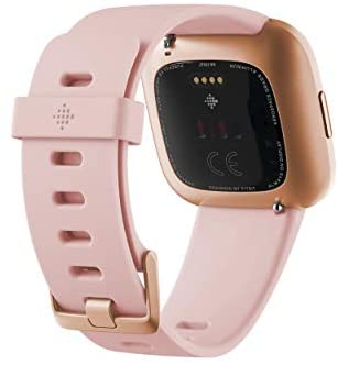 31hv76TiYcL. AC  - Fitbit Versa 2 Health and Fitness Smartwatch with Heart Rate, Music, Alexa Built-In, Sleep and Swim Tracking, Petal/Copper Rose, One Size (S and L Bands Included)