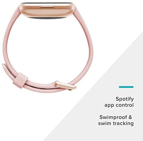 31tLfKlVazL. AC  - Fitbit Versa 2 Health and Fitness Smartwatch with Heart Rate, Music, Alexa Built-In, Sleep and Swim Tracking, Petal/Copper Rose, One Size (S and L Bands Included)