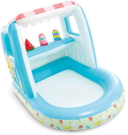 4100fTU3frL. AC  - Intex Ice Cream Stand Inflatable Playhouse and Pool, for Ages 2-6, Multi, Model Number: 48672EP