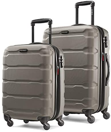 410QM4DBz8L. AC  - Samsonite Omni PC Hardside Expandable Luggage with Spinner Wheels, Silver, 2-Piece Set (20/24)