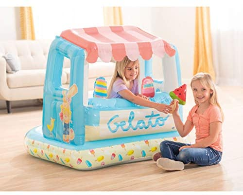 419GN9G8wDL. AC  - Intex Ice Cream Stand Inflatable Playhouse and Pool, for Ages 2-6, Multi, Model Number: 48672EP