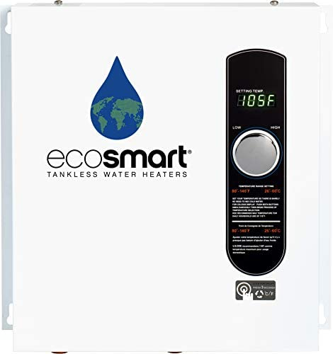 41C6Q3PNlML. AC  - EcoSmart ECO 27 Electric Tankless Water Heater, 27 KW at 240 Volts, 112.5 Amps with Patented Self Modulating Technology,White