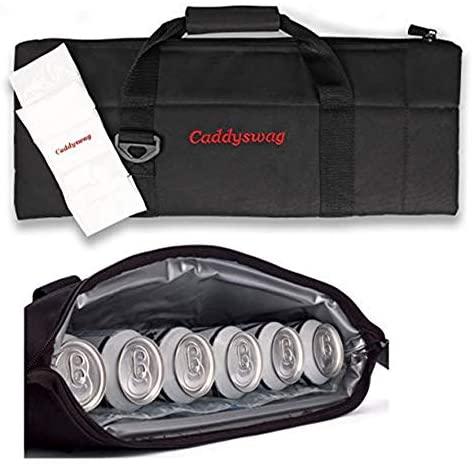 41PpdBo4IeL. AC  - Caddyswag Par 6 Pack Golf Bag Cooler With Flexible Reusable Freezer Gel Pack