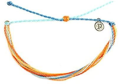 41WIkfNyoeL. AC  - Pura Vida Jewelry Bracelets Bright Bracelet - 100% Waterproof and Handmade w/Coated Charm, Adjustable Band