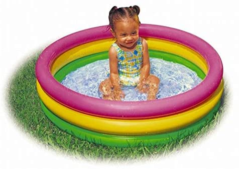 41Y0grxJNWL. AC  - Intex 2.8ft x 10in Sunset Glow Inflatable Colorful Baby Swimming Pool (2 pack)