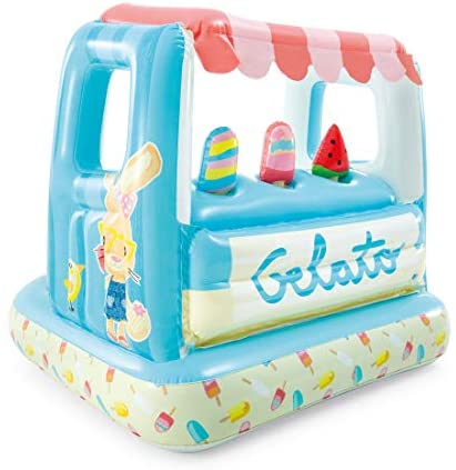 41Z3xOyMo L. AC  - Intex Ice Cream Stand Inflatable Playhouse and Pool, for Ages 2-6, Multi, Model Number: 48672EP
