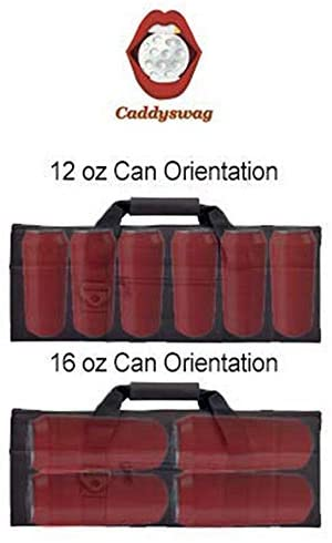 41agXf1ds3L. AC  - Caddyswag Par 6 Pack Golf Bag Cooler With Flexible Reusable Freezer Gel Pack