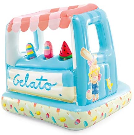 41dGNwBf3+L. AC  - Intex Ice Cream Stand Inflatable Playhouse and Pool, for Ages 2-6, Multi, Model Number: 48672EP